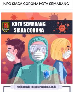 Kota Semarang siaga Corona tampil di website Pemkot Semarang Jawa tengah. (Foto: Tangkapan Layar Website Pemkot Semarang)