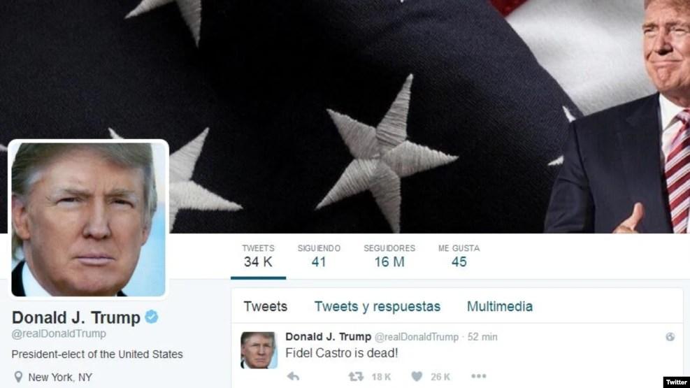 Nhà lãnh đạo sắp tới của Mỹ lâu nay hay dùng Twitter để phổ biến các bình luận và quan điểm của mình.