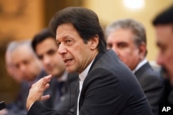 "FILE - Pakistan""s Prime Minister Imran Khan is seen during talks in Beijing, China, Nov. 2, 2018."