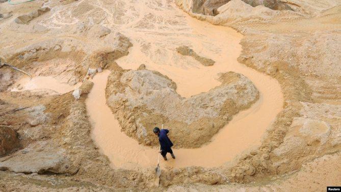 Một mỏ đất hiếm ở tỉnh Giang Tây, Trung Quốc