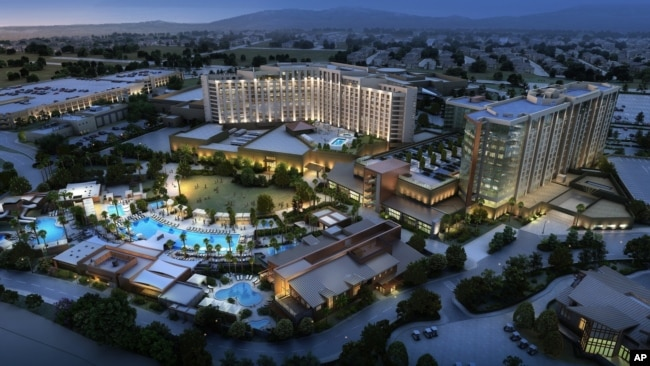 Pechanga Resort & Casino Resort Expansion Rendering. Project broke ground Dec. 16, 2015 and was expected to be complete in 24 months. Pechanga was already the largest resort/casino in Calif. The expansion doubles the size of its resort offerings.