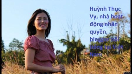 Nhà hoạt động Huỳnh Thục Vy. Facebook Nguyen Van Dai