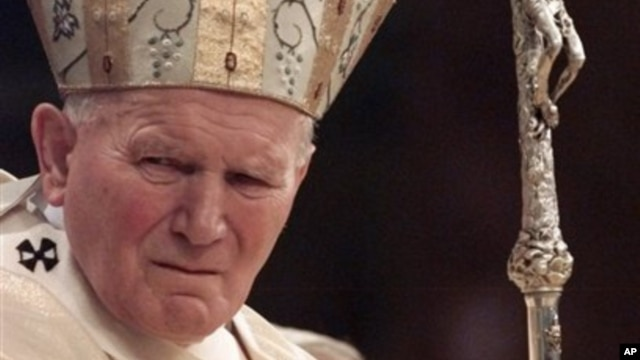 Pope John Paul II celebrated mass in New York's Central Park, Oct. 7, 1995.
