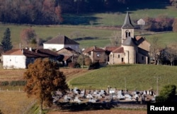 FILE - A general view shows the rural village Frayssinhes in south-central France, Dec.10, 2013.
