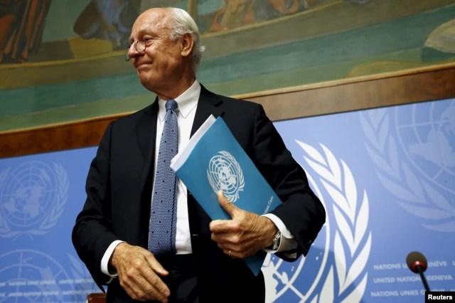 Đặc sứ Liên Hiệp Quốc về Syria, ông Staffan de Mistura.