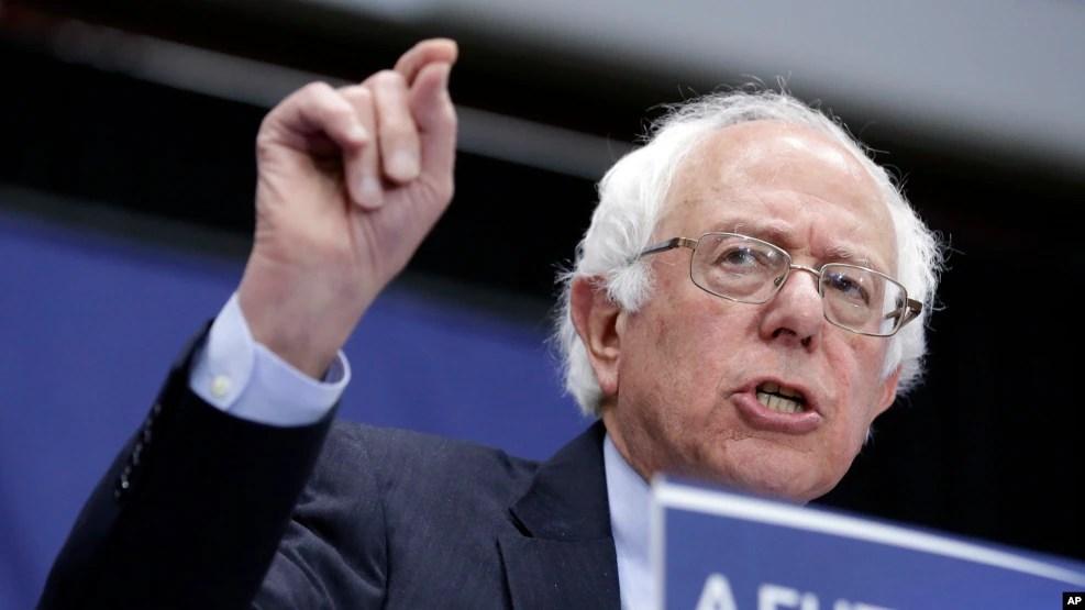 Thượng nghị sĩ Bernie Sanders, ứng cử viên của đảng Dân chủ, trong cuộc vận động tại Fort Wayne, bang Indiana, ngày 2/5/2016.