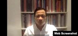 Direktur Eksekutif Amnesty International Indonesia, Usman Hamid saat memberikan keterangan pers secara virtual terkait penembakan di Intan Jaya, Papua, Senin, 28 September 2020. (Foto: screenshot)