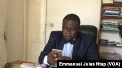 Dr Ampoam Christophe, vice président du conseil national de l'ordre des pharmaciens du Cameroun, le 12 mai 2018. (VOA/Emmanuel Jules Ntap)