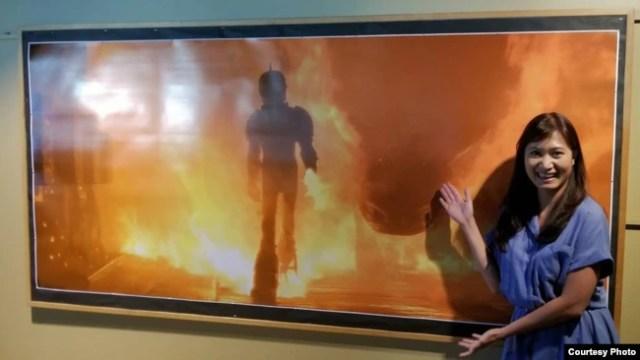 Gambar adegan berupa efek api karya Yorie Kumalasari di film How To Train a Dragon 3 (Dok: Yorie)