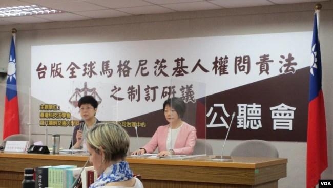 台版人权问责法公听会2021年3月30日在台湾立法院举行(美国之音张永泰拍摄)