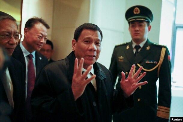 菲律宾总统罗德里戈·杜特尔特(Rodrigo Duterte)到达北京(2016年10月18日)