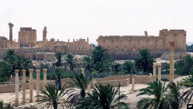Thành phố cổ Palmyra. Ảnh của hãng thông tấn SANA của Syria