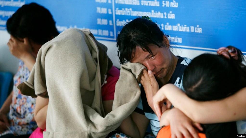 Những người trốn chạy chế độ Bắc Hàn bị bắt ở Thái Lan hôm 9/5/2007.