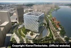Проектне зображення будівлі нового посольства США у Лондоні на південному березі Темзи