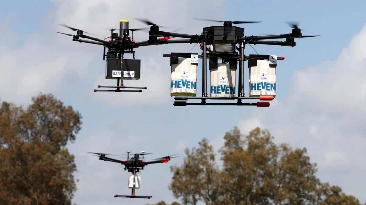 Layanan Pos Inggris Gunakan Drone untuk Kirim APD dan Alat Tes ke Pulau-Pulau Terpencil