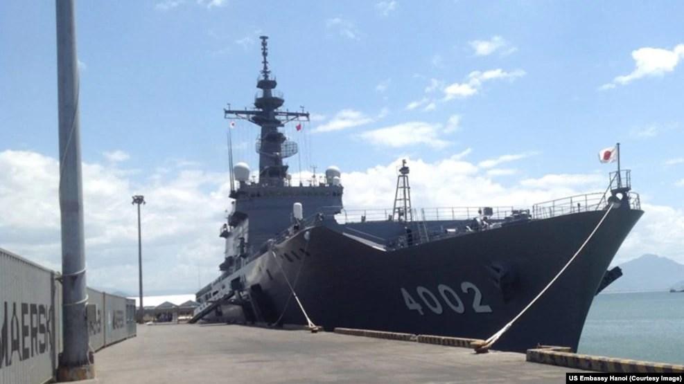 """Một tàu tham gia sự kiện """"Đối tác Thái Bình Dương 2016"""" ở Đà Nẵng."""