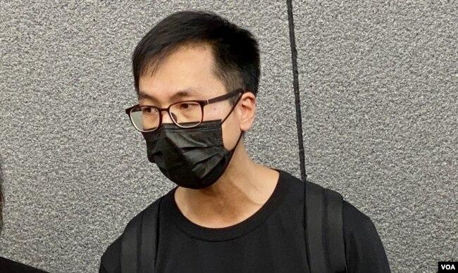 梁锦威表示,支联会在公民社会的角色应该由香港市民去决定,而不是特首林郑月娥一个人定义 (美国之音/汤惠芸)