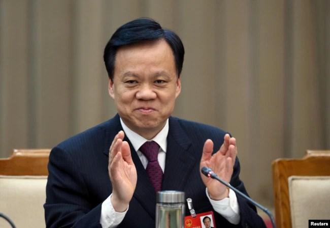 中共贵州省委书记陈敏尔在北京开会(2016年3月6日)