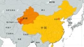 新疆及喀什地区地理位置图