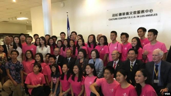Bà Thái Anh Văn và cộng đồng người Mỹ gốc Đài Loan.