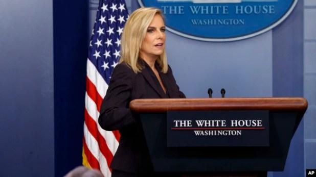 La secretaria de Seguridad Nacional Kirstjen Nielsen, dijo que se enviarán tantos efectivos de la Guardia Nacional a la frontera con México como sean necesarios.
