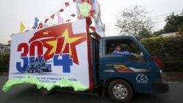 Xe tải quảng bá kỷ niệm 40 năm ngày