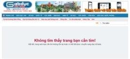 Bài viết đã được gỡ xuống khỏi trang Giáo dục Việt Nam.