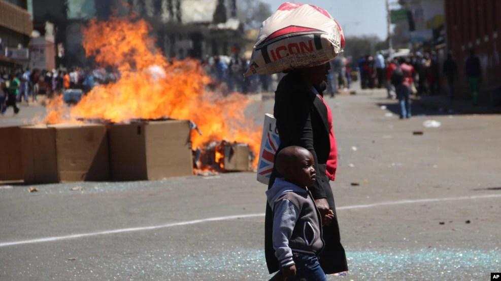 Protestos no Zimbabué