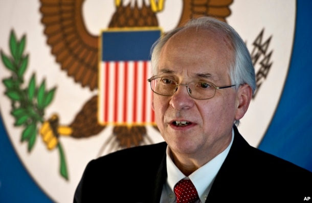 FILE - Donald Booth, U.S. special envoy to South Sudan, says it's not clear that an attack on U.S. Embassy vehicles on July 7 had targeted Americans.