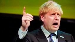 El primer ministro británico Boris Johnson durante un discurso en la Convención del Norte, en Rotherham, Inglaterra, el viernes 13 de septiembre de 2019.