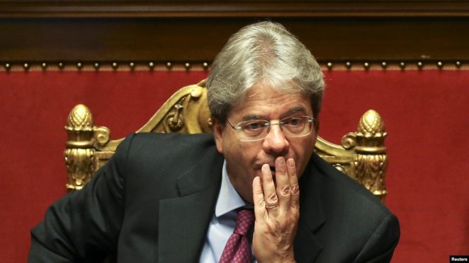 FILE - Italy's Foreign Minister Paolo Gentiloni is seen in Rome, Italy, April 5, 2016.