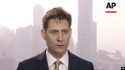 Ảnh chụp ngày 28/3/2018, khi Cố vấn cấp cao đặc trách Đông Bắc Á của ICG Michael Kovrig trả lời một cuộc phỏng vấn ở Hong Kong.