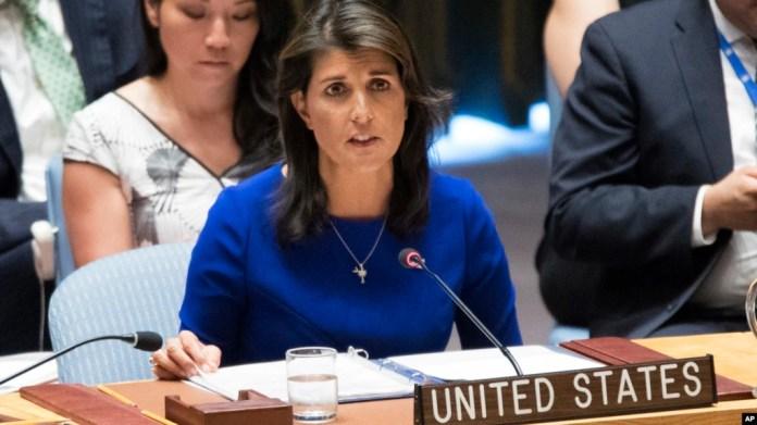 La embajadora de EE.UU. ante la ONU, Nikki Haley, advierte sobre la falta de garantías en Nicaragua para que los ciudadanos ejerzan sus derechos.