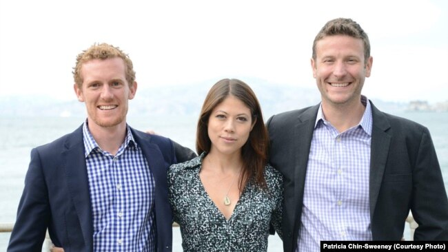 At I-DEV International, Jason, right, worked closely with Patrick Watson, left, and Patricia Chin-Sweeney, center, to help businesses in emerging markets.