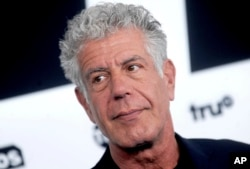 Anthony Bourdain is seen at the 2017 Turner Upfront in New York City, May 17, 2017.
