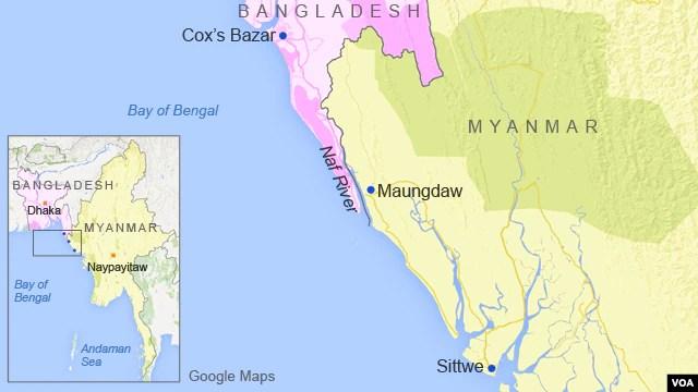 The Naf River, on the border of Bangladesh and Myanmar