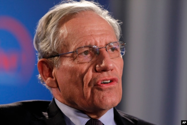FILE - Former Washington Post reporter Bob Woodward speaks during an event sponsored by The Washington Post to commemorate the 40th anniversary of Watergate, June 11, 2012 at the Watergate office building in Washington.