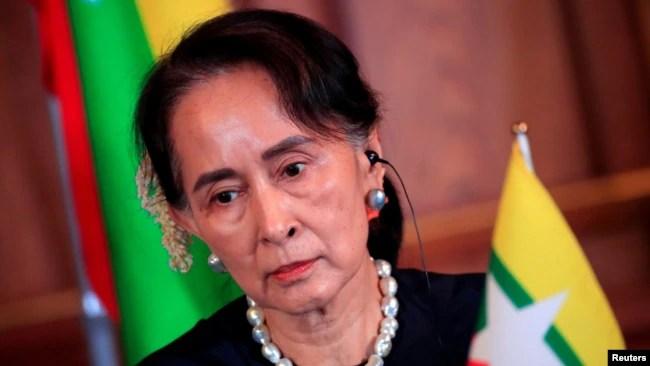 资料照:被推翻的缅甸前领导人昂山素季