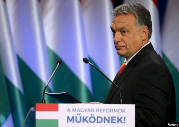 FILE - Hungarian Prime Minister Viktor Orban in Budapest, Hungary, Feb. 28, 2016.