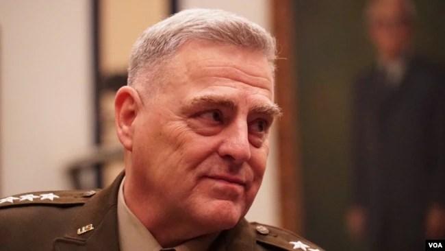 美军参谋长联席会议主席米利上将(General Mark Milley)(美国之音黎堡2020年2月26日摄)
