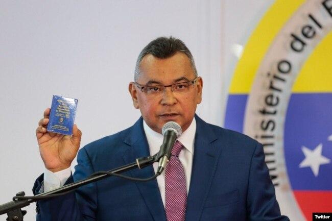 Nestor Reverol, Ministro de Relaciones Interiores de Venezuela. Foto: @NestorReverol. Agosto 5, 2018.