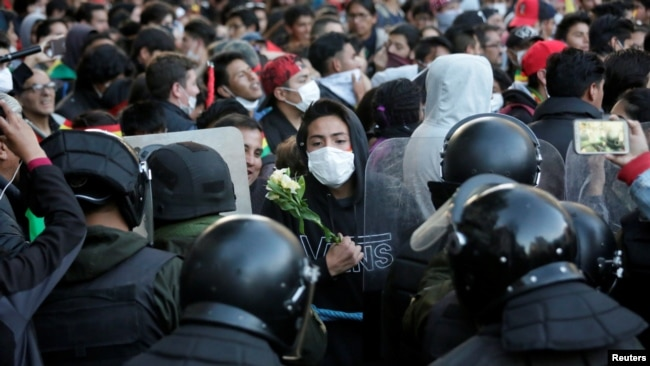 Protestas callejeras en Bolivia por resultados electorales