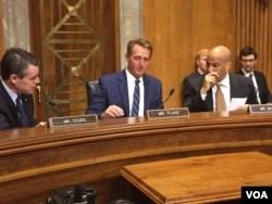 United States senators at a congressional hearing on Zimbabwe on Thursday.