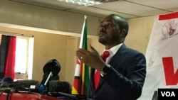 Nelson Chamisa of the MDC