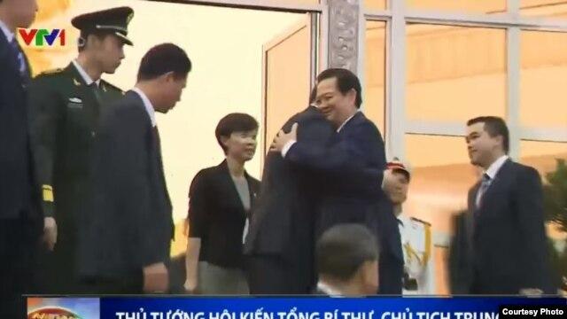 Thủ tướng Nguyễn Tấn Dũng hội kiến Chủ tịch Trung Quốc Tập Cận Bình hôm 5/11/2015.