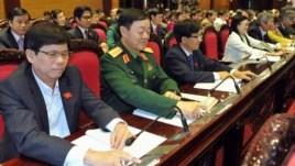 Quốc hội Việt Nam nhấn nút bầu thông qua hiến pháp mới.