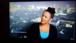 FILE - Mimi Mefo in studio presenting news.