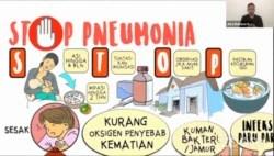 Kampanye STOP Pneumonia oleh Save the Children Indonesia dalam kegiatan virtual Festival Sehat Anak Indonesia, memperingati Hari Pnemonia Dunia 2020, Kamis (12/11/2020), dalam tangkapan layar.