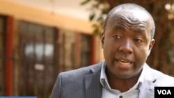 Geoffrey Thige, CEO of RefuSHE Kenya.  (VOA/videograb)