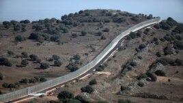 Biên giới Israel với Syria gần cửa khẩu Quneitra.